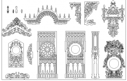 Mega Blocks of Decorative Patterns dwg file