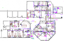 Mental hospital architecture layout plan details dwg file