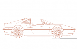 Mercedes Car Elevation design.