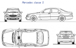 Mercedes car 3 D detail dwg file