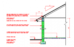 Metal Roof deck cad Section details