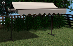Metal and canvas awning pergola design dwg file