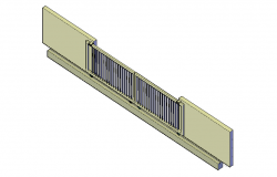 Metal sliding gate 3d