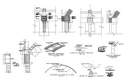 Metal structure specifications cad drawing details dwg file
