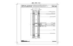 Metallic structure detail elevation 2d view layout file
