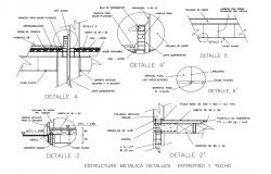 Metallic structure of mezzanines and ceilings cad drawing details dwg file