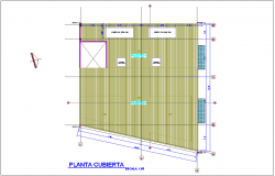 Metallic structure with fiber mixing cover plan for office dwg file