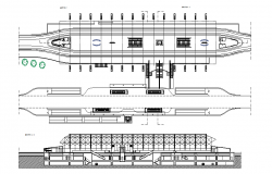 Metro railway station elevation dwg file