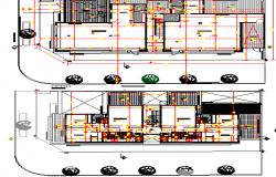 Mini shopping center floor plan layout dwg file