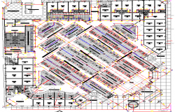 Mini shopping mall architecture layout plan details dwg file