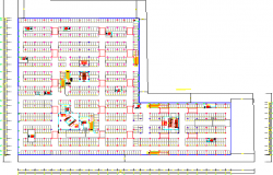 Mini shopping mall architecture project dwg file