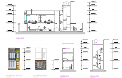 Minimalist single family housing layout file