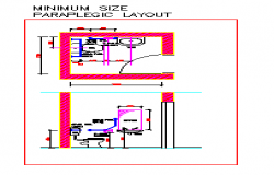 Minimum size Disabled public water closet design drawing