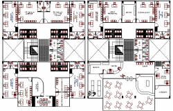Ministry publish office architecture foor layout plan details dwg file