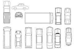 Miscellaneous car and vehicle blocks auto-cad details dwg file