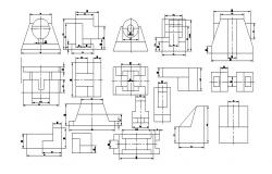 Miscellaneous mechanical parts blocks cad drawing details dwg file