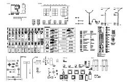 Miscellaneous mix household blocks cad drawing details dwg file