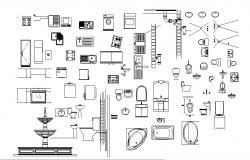 Miscellaneous sanitary and plumbing equipment blocks dwg file