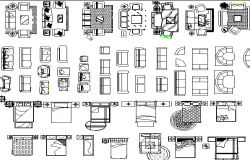 Mixed home utility furniture blocks design  dwg file