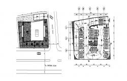 Mixed used building high rise site plan and location map details dwg file