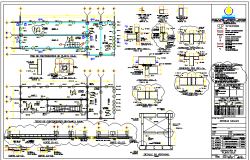Mobile office constructive details dwg file