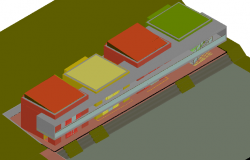 Model design of home in 3d view