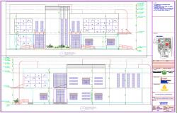 Modern Bungalow Elevation design dwg file