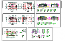 Modern Bungalows Design in autocad file