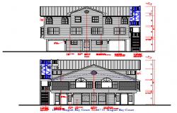 Modern Bungalows Elevation With dimension