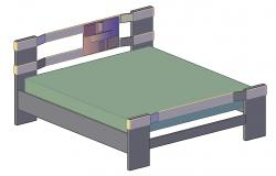 Modern Design Of Wooden Bed With Rendered In 3D MAX File