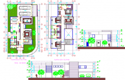 Modern House project detail dwg file