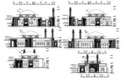 Modern Mosque Design CAD File