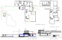Modern Residence Project detail view dwg file