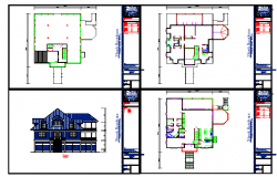 Modern Residency PLan & Elevation detail