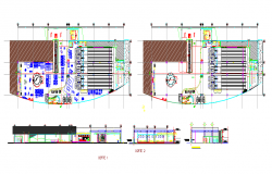 Modern Restaurant & Hotel Detail in Autocad Drawing