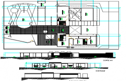 Modern School Architecture Project dwg file