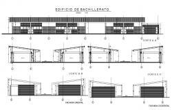 Modern School Elevation CAD File