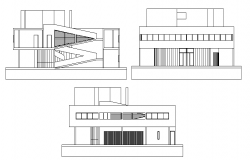 Modern Side Elevation Detail in cad file