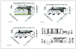 Modern Type Apartment plan Lay-out  & Elevation detail