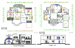 Modern Villa Project detail dwg file