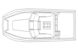 Modern boat top view cad block design dwg file