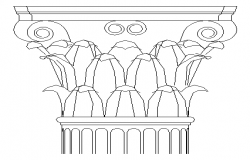 Modern column design block dwg file