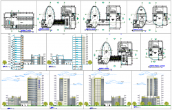 Modern commercial building architecture design