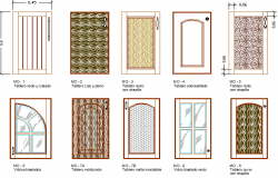 Modern door design architecture project dwg file