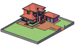 Modern home design drawing in 3d