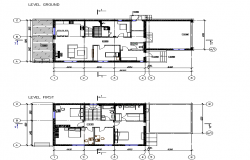 Modern house architectural layout plan dwg file