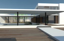 Modern house architecture 3d sketchup model