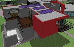 Modern house view in sketchup file