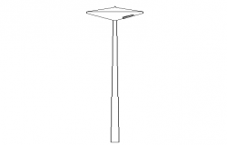 Modern style street light pole cad design dwg file