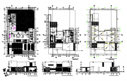 Modern villas architecture layout plan in autocad dwg file